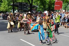 Carnival of Cultures. Berlin. Germany. BERLIN - JUNE 09, 2019: The annual Carnival of Cultures Karneval der Kulturen celebrated around the Pentecost weekend royalty free stock photography
