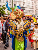 Carnival of Cultures (Berlin 2010). Participants wearing masks at the Carnival of Cultures Stock Photos