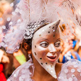 Carnival of Cultures (Berlin 2010). Participants wearing masks at the Carnival of Cultures Stock Images