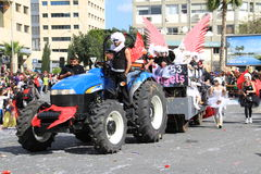 Carnival in Cyprus. Limassol, Cyprus - March 17, 2013: Annual Carnival Procession passing in Limassol stock photography