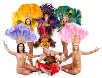 Carnival dancers Royalty Free Stock Image