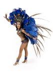 Carnival dancer. Beautiful carnival dancer, amazing costume