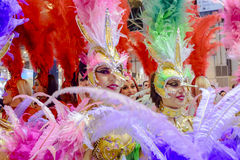 A carnival dancer from the group La Sal de Torrevieja Stock Photo