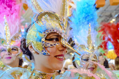 A carnival dancer from the group La Sal de Torrevieja Royalty Free Stock Image