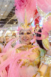 A carnival dancer from the group La Sal de Torrevieja Royalty Free Stock Images