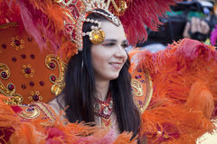 Carnival dancer on the parade Stock Image