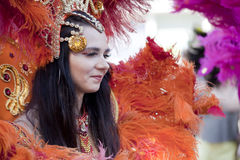 Carnival dancer on the parade Royalty Free Stock Image