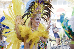 Carnival dancer on the parade Royalty Free Stock Photo