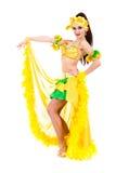Carnival dancer woman dancing Stock Images
