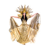 Carnival dancer woman dancing with crown Royalty Free Stock Photography