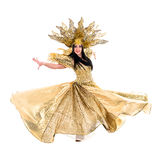 Carnival dancer woman dancing with crown Royalty Free Stock Image