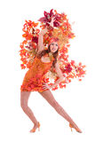 Carnival dancer woman dancing Stock Photo