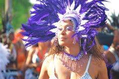 Carnival dancer. Woman in ornate carnival headdress Stock Photos