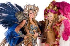 Carnival dancers. Beautiful carnival dancers, amazing costume