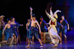 """Carnival on deck-Dance drama """"The Dream of Maritime Silk Road"""". Dance drama """"The Dream of Maritime Silk Road"""" centers on the plot of two generations of a Stock Photos"""