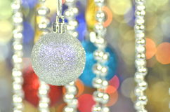 Carnival decoration, colored ball on bokeh Stock Image