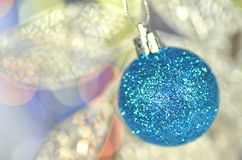 Carnival decoration, colored ball on bokeh Stock Photo