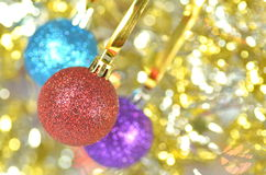 Carnival decoration, colored balls on bokeh Royalty Free Stock Photo