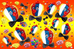 Carnival. Decorations on background full of colors Royalty Free Stock Photos