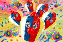 Carnival. Decorations on white background full of colors Royalty Free Stock Photos