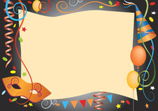 Carnival decorative background Stock Image