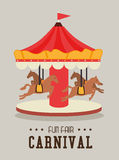 Carnival design over gray background vector illustration Royalty Free Stock Photography
