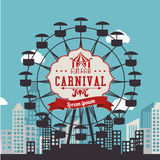 Carnival design over urbanscape background vector illustration Stock Images