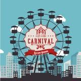 Carnival design over urbanscape background vector illustration. Carnival design over urbanscape background, vector illustration Stock Images