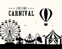 Carnival design over white background vector illustration Royalty Free Stock Images
