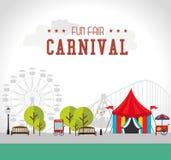 Carnival design over white background vector illustration. Carnival design over white background, vector illustration Stock Photos