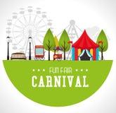 Carnival design over white background vector illustration. Carnival design over white background, vector illustration Stock Photo