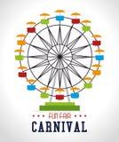 Carnival design over white background vector illustration. Carnival design over white background, vector illustration Stock Photography