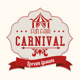 Carnival design over white background vector illustration Royalty Free Stock Image