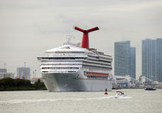 Carnival Desity cruise hip departing Miami Stock Photo