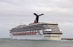 Carnival Destiny leaving the port of Miami Royalty Free Stock Photos