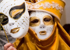 Carnival disguise. Venetian style mask Stock Image