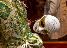 Carnival disguise. Venetian style mask Stock Images