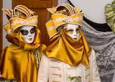 Carnival disguises with Venetian style masks Royalty Free Stock Images