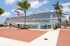 Carnival Docked in Key West Stock Images