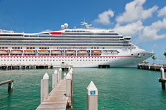 Carnival Docked in Key West Stock Photo