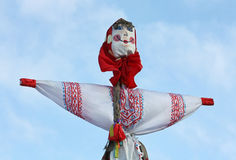 Carnival doll against the sky Royalty Free Stock Photography