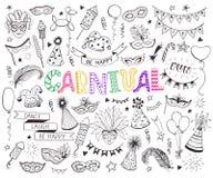 Free Carnival Doodle Set Stock Image - 107864791