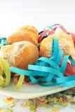 Carnival  doughnuts plate Stock Photos