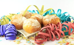 Carnival  doughnuts plate Royalty Free Stock Photos