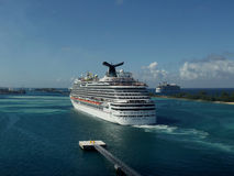 Carnival Dream in Nassau, Bahamas Royalty Free Stock Photos