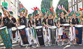 Carnival drummers Stock Photo