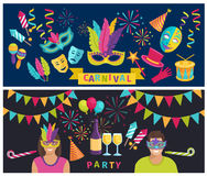 Carnival Elements Banner Royalty Free Stock Photo