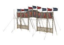 Carnival Entrance. 3D digital render of a vintage carnival entrance sign isolated on white background vector illustration