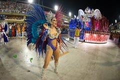 Carnival 2019 - Estacio de Sa. Rio, Brazil - march 02, 2019: Estacio de Sa during the Carnival Samba School Carnival RJ. Highlight floor janeiro parade dancer royalty free stock image