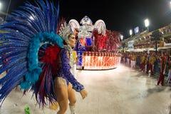 Carnival 2019 - Estacio de Sa. Rio, Brazil - march 02, 2019: Estacio de Sa during the Carnival Samba School Carnival RJ. Highlight floor janeiro parade dancer royalty free stock photo